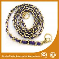 China Customized Gold Copper Handbag Metal Chain With Leather Eco Friendly wholesale