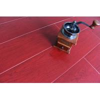 China Crystal Surface Bamboo Fiber Wooden Floor Tiles Fireproof Bright Wine Red wholesale