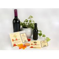 China Spirit Glass Bottle Wine Sticker Labels / Gold Embossed Stickers Printing wholesale