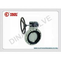 China ISO Corrosion prevention wafer butterfly valve for chlorine plant wholesale