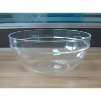 Quality 282g Round Salad Clear Acrylic Bowl With Customized Logo for sale