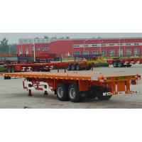 China 3 Axle Flatbed Tractor Trailer Container Semi Trailer With Container Lock wholesale