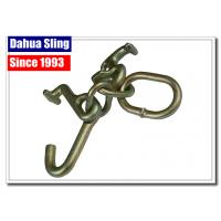 China Tow Strap Accessories Steel Ratchet Strap Hooks , Vehicle Tie Down Hooks wholesale