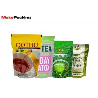 China Zipper Custom Stand Up Pouches , Tea Packaging High Barrier Pouches on sale