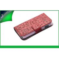China Wallet Style Animal Pattern Samsung Leather Phone Cases , Galaxy Ace S5830 Case Cover on sale