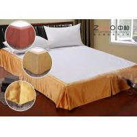 China Simple Style Wrap Around Bed Skirt With Split Corners OEM / ODM Available wholesale