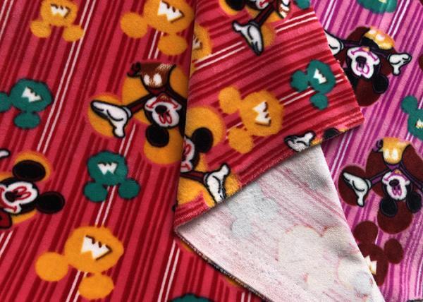Quality Printed Stretch Velboa Minky Plush Fabric for sale