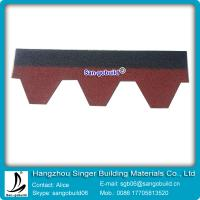 China Double color and single color asphalt shingle for roofing materials wholesale