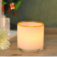 China Customed color Hand Blown Glass Candle Holder Vessel With Artisanally Crafted wholesale