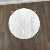 China White Simple Marble Modern New Design Marble Top Center Coffee table tops for Hospitality furniture wholesale