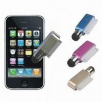 China Dust Cap Stylus Touch Pens for iPhone, Available in Multi-color wholesale