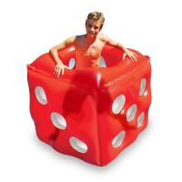 China Swimming Pool Inflatable Red Dice Cube Ride-On Floating Water Toy Summer PVC Set wholesale