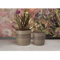 China Weather Resistant Round Plant Pots Customized With Recycled Plastic Material wholesale
