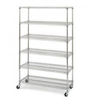 "China 6 Tiers Chrome Steel Industrial Wire Shelving 18""x48""xH74"", NSF &  Approval on sale"