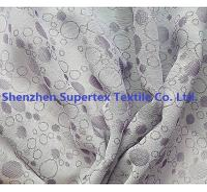 China Dobby Dots 100% Polyester Chiffon Fabric Purple in Yarn Dyed wholesale