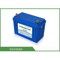 China Safety 24V 40Ah Medical Equipment Battery Backup Nano LiFePO4 Material wholesale