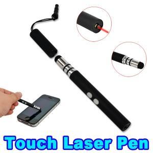 China LED Capacitive Stylus Pen / Red Laser Pointer Pen Flashlight Earphone Dust Proof wholesale