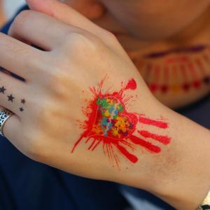 China custom gold foil tattoo sticker/gold temporary tattoos on sale