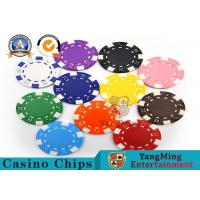 China PMS Printing Casino Poker Chips Abs Plastic Inner Steel Core Environmental Protection Material wholesale
