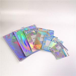 China Gravure Pringting Stand Up Aluminum Foil Bag Hologram Packaging Bag For Cosmetics wholesale
