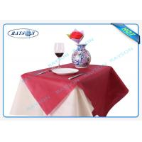 China Full Color Range Disposable Non Woven Tablecloth in Green Yellow Orange wholesale