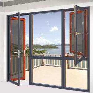 China Hurricane Impact Aluminum Glass Villa Windows Doors with Amplimesh Security Screen wholesale