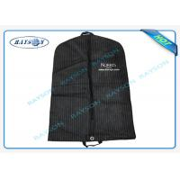 China Eco Friendly Fold Down Non Woven Suit Cover Zipper Garment Bags Recyclable wholesale