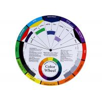China Permanent Makeup Pigment Mixing Color Wheel , Pigment Color Wheel Card 200g wholesale