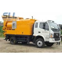 China Easy Moving Mobile Trailer Mounted Concrete Pump With Double Shaft Mixer wholesale