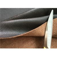 Buy cheap Brown Leather Car Upholstery Fabric With 15% Cotton And 15% Polyester from wholesalers