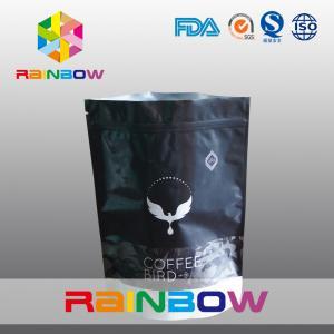 China Custom Printing 250g Matt Stand Up Ziplock Coffee Bean Bags With Valve wholesale