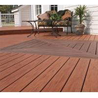 China UV Resistance Wpc Timber Floor Decking Recyclable For Exterior Garden wholesale