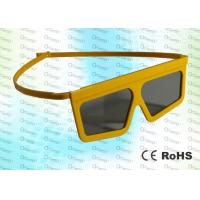 China Master Image,RealD Cinema Plastic Yellow Circular polarized 3D glasses wholesale