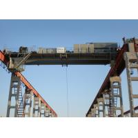 China Double Girder Workshop Lifting Overhead Crane Safe With Motor Wheel on sale