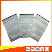 China Transparent Strong Packing Ziplock Bags , Airtight Storage Bags Plastic LDPE wholesale