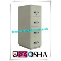China Steel Fireproof File Cabinets 4 Drawer For Important Papers / Medium / Data wholesale