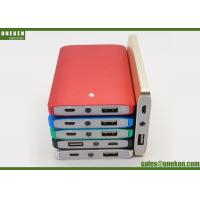 China Mini 4000mah Battery Charger , Blue / Red Cell Phone Power Bank With Led Light wholesale