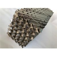 China High Efficiency Distillation Column Packing Material , Mesh Corrugated Packing wholesale