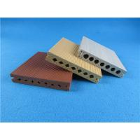 China Hollow Co - extrusion WPC Composite Decking Board End Cap Yard Wooden wholesale