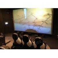 China Professional 5D Cinema System With Large Screen , Black Leather Seats wholesale