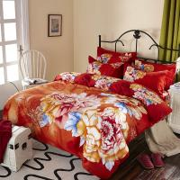 China Luxury 9 Pieces Home Bedding Comforter Sets Double Full Size Red Color wholesale