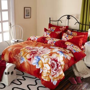 China Luxury Design Cotton Bedding Sets , Reactive Printed 100 Percent Cotton Comforter Sets wholesale