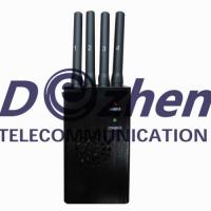 China Portable GPS Mobile Phone Signal Jammer CDMA GSM DCS PCS 3G With Ni - Ion Battery wholesale