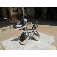 China Mirror Indoor Metal Sculptures 316 Famous Abstract Sculptures Electroplated wholesale