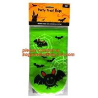 China Halloween Candy Bag Basket Trick or Treat Pumpkin Tote Bag for Kids,gift decoration item Halloween cellophane treat bag wholesale