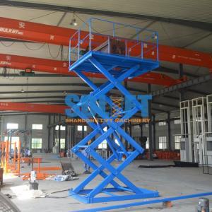 Buy cheap 1T Stationary Hydraulic Scissor Lift Elevator , Pallet Scissor Lift Platforms from wholesalers