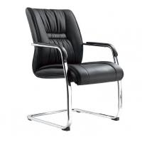 China Genuine Leather Office Furniture Reception Desk Chair No Wheels Office Furniture wholesale