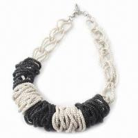 China Trendy Necklace with Color Painting and Latest Design, Fashionable Jewelry, Suitable for Women wholesale