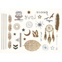 China Non toxic safe gold removable tattoos passed REACH eco - friendly wholesale