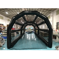 China 40ft Outdoor Inflatable Sports Games Black Pvc Batting Cage wholesale